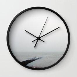 Alone in Mist Wall Clock