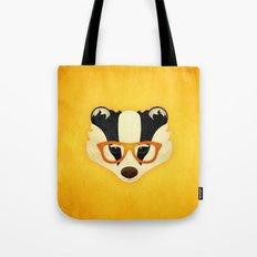Hipster Badger: Gold Tote Bag