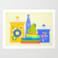 still life with pear Art Print