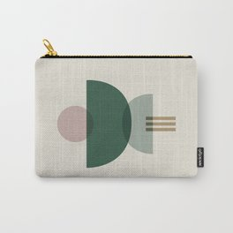 Emerald Abstract Half Moon 3 Carry-All Pouch