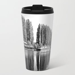 Barges on the River Oise Travel Mug