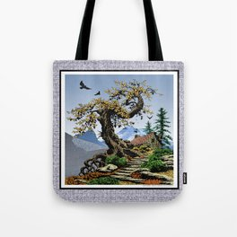 BLUE RIDGE OAK AND KOMA KULSHAN Tote Bag