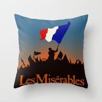 les miserables Throw Pillows featuring Les Miserables by TheWonderlander