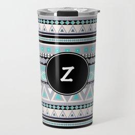 Monogram Tribal Pattern *Z* Travel Mug