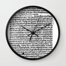 Schreibens aus Prag Wall Clock