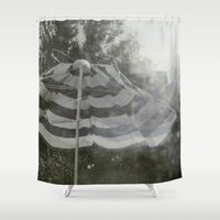umbrella Shower Curtains featuring Umbrella by Anja Hebrank