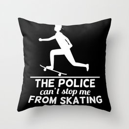 Skater Longboard Gift Throw Pillow