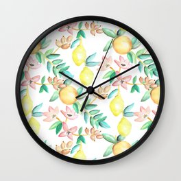 Flowers and Fruits Wall Clock