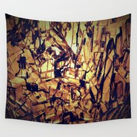 cracked Wall Tapestries featuring cracked glass by Patrick.the.human
