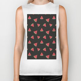 Juicy watermelon slice - Pattern Design Biker Tank
