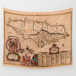 Map Of Jamaica 1671 Wall Tapestry
