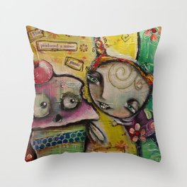 Panic In The Town Throw Pillow