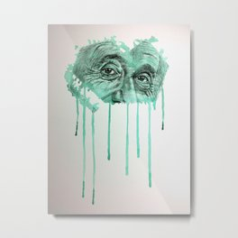 Albert - GREEN Metal Print