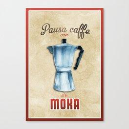 Cafe Poster: Coffee Break with Moka Canvas Print