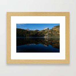 Hallett Peak Reflection - Rocky Mountain National Park Framed Art Print