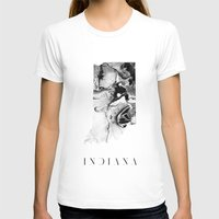 indiana T-shirts featuring Indiana by PearlStDesignCo