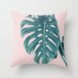 Monstera Delight #3 #tropical #decor #art #society6 Throw Pillow