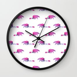 Constellation watercolor bears Wall Clock