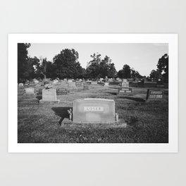 Death is a loser/Loser is dead Art Print