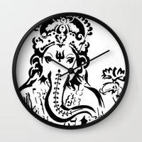 ganesh Wall Clocks featuring Ganesh by ShivaR