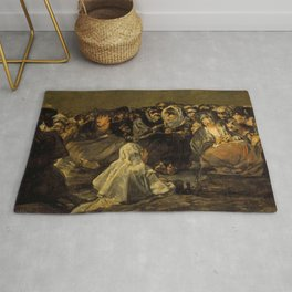 "Francisco Goya ""El Gran Cabrón o Aquelarre (The Great He-Goat or Witches Sabbath)"" Rug"