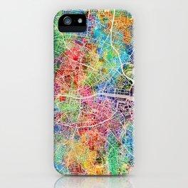 Dublin Ireland City Map iPhone Case