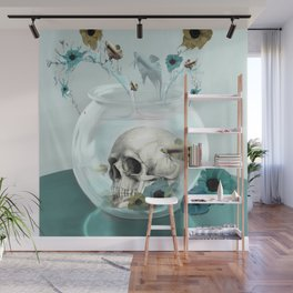 Looking glass skull Wall Mural