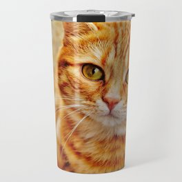 Cute red cat Travel Mug