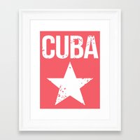 cuba Framed Art Prints featuring CUBA by Department M