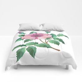 Abstract flower branch Comforters
