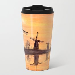 Windmills Sunset Travel Mug