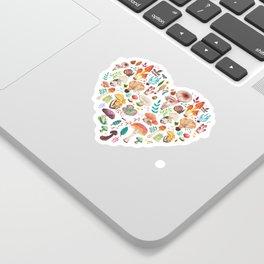Mushroom heart Sticker
