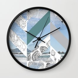 Chevron Beach Wall Clock