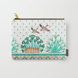 Lotus and Papyrus Carry-All Pouch