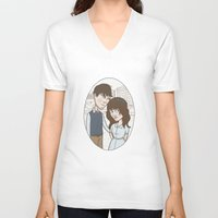 500 days of summer V-neck T-shirts featuring 500 days of summer portrait. by Nic Lawson