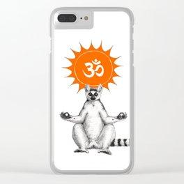 Maki om sun G146 Clear iPhone Case