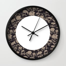 Skulls Seamless Wall Clock