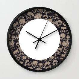 Skulls Seamless Wall Clock