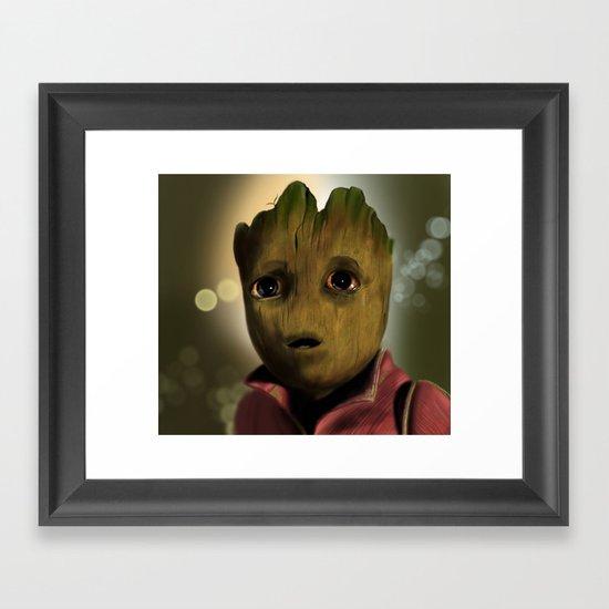 Tree baby Framed Art Print