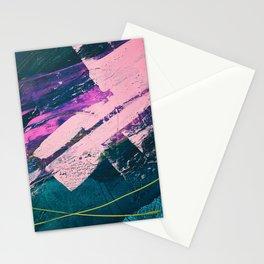 Wonder. - A vibrant minimal abstract piece in jewel tones by Alyssa Hamilton Art Stationery Cards