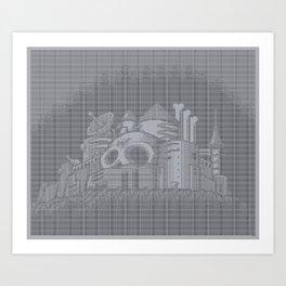 ASCII WILY CASTLE MM2 Art Print