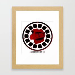 VIEW THINGY !   (red/black) Framed Art Print