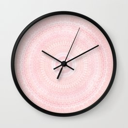 Pastel Pink Mandala Wall Clock