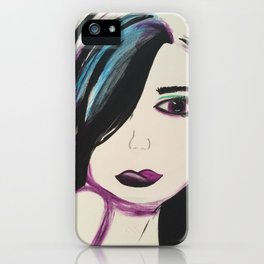 Colorful Girl. Abstract Girl Purple Green.Pop Art by Jodilynpaintings. Figurative Abstract Pop Art. iPhone Case
