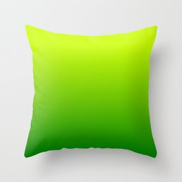 Bright Chartreuse Green Ombre Throw Pillow