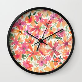 Jaunty Flowers of the Valley Wall Clock