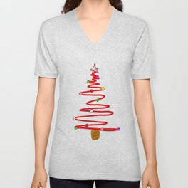 Blackboard Tree Unisex V-Neck