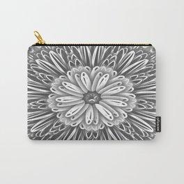 Flower Kaleidoscope Grays Carry-All Pouch