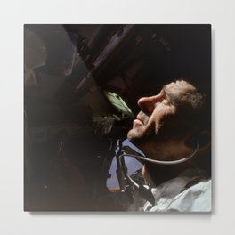 Apollo 7 - Looking At The Stars Metal Print