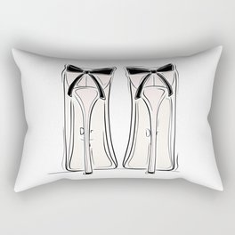 Ribbon Heels Rectangular Pillow